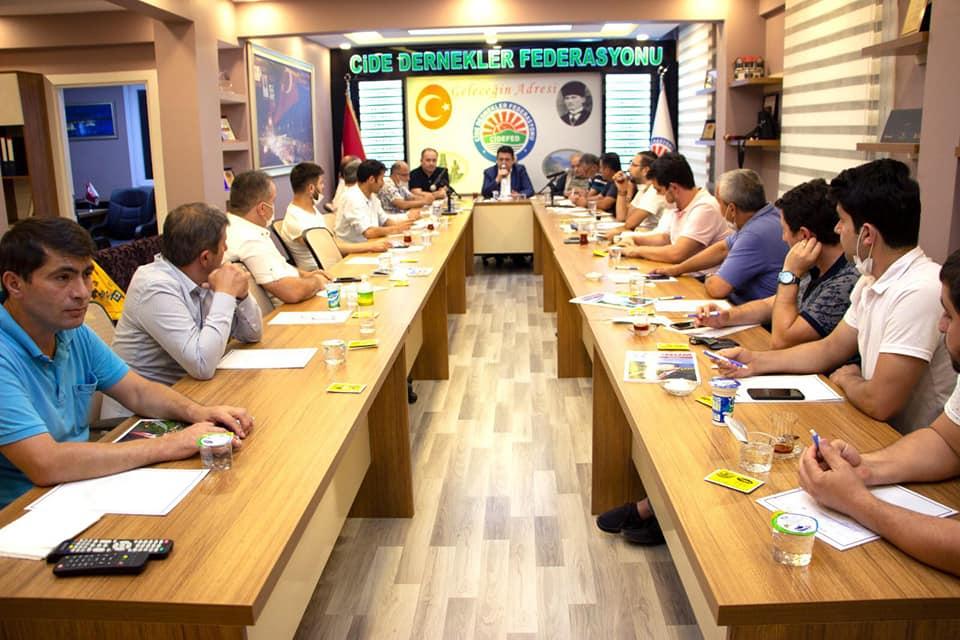 Cide'Fed geniş katılımlı toplantısını gerçekleştirdi
