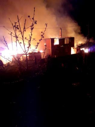 Cide'de korkutan yangın: 6 ev alev alev yandı!
